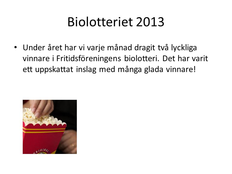 Biolotteriet 2013