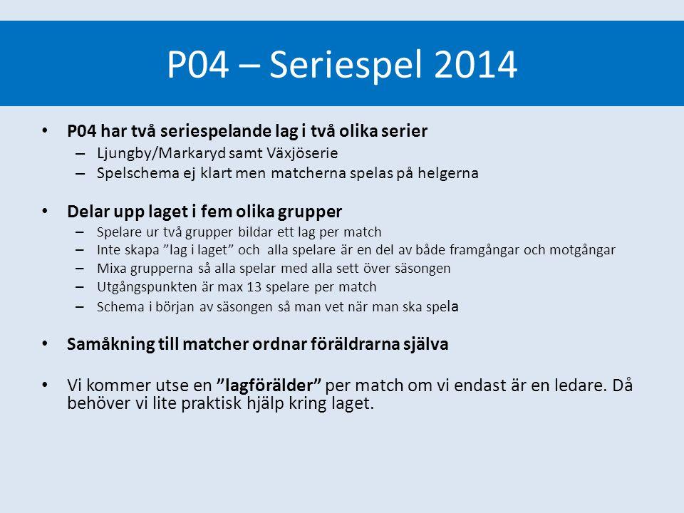 P04 – Seriespel 2014 Seriespel