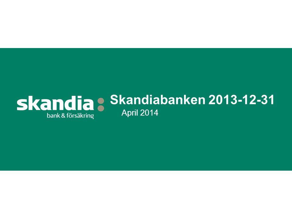 Skandiabanken 2013-12-31 April 2014