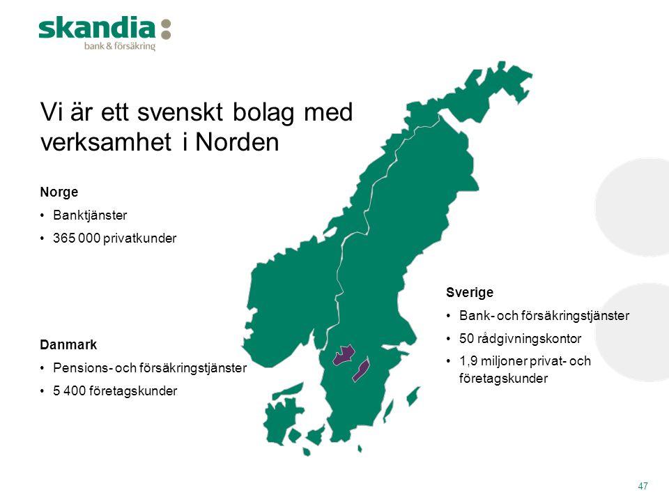 Vi är ett svenskt bolag med verksamhet i Norden