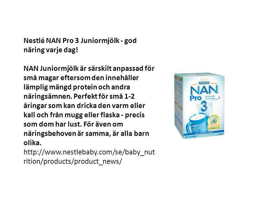 Nestlé NAN Pro 3 Juniormjölk - god näring varje dag!