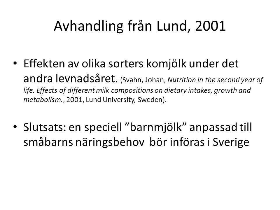 Avhandling från Lund, 2001