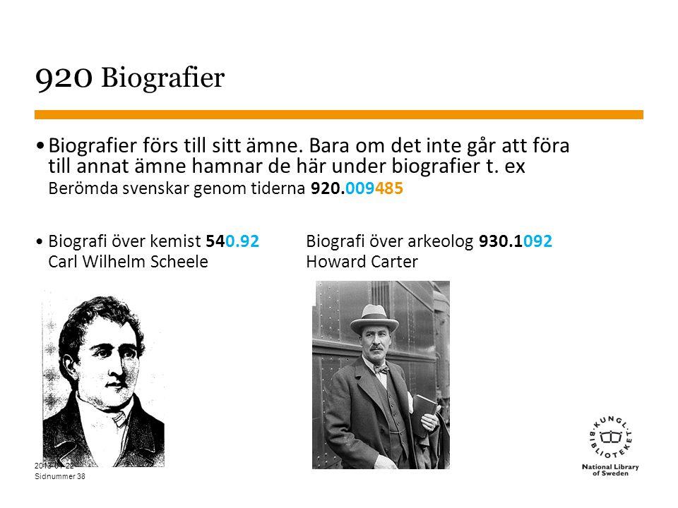 920 Biografier