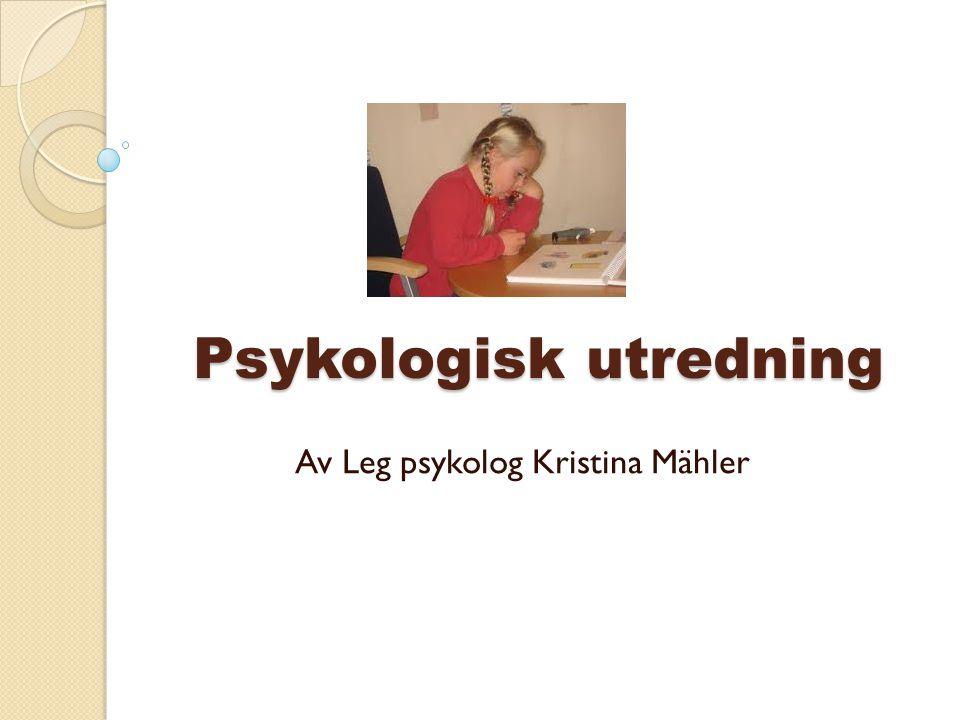 Psykologisk utredning