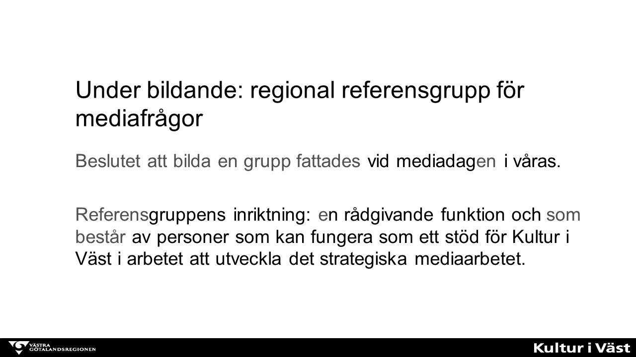 Under bildande: regional referensgrupp för mediafrågor
