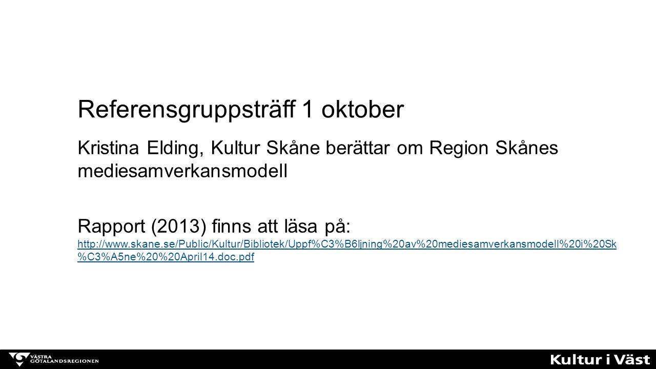 Referensgruppsträff 1 oktober
