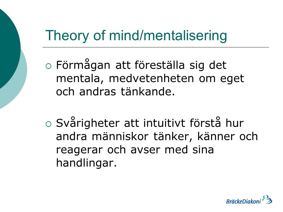 Theory of mind/mentalisering