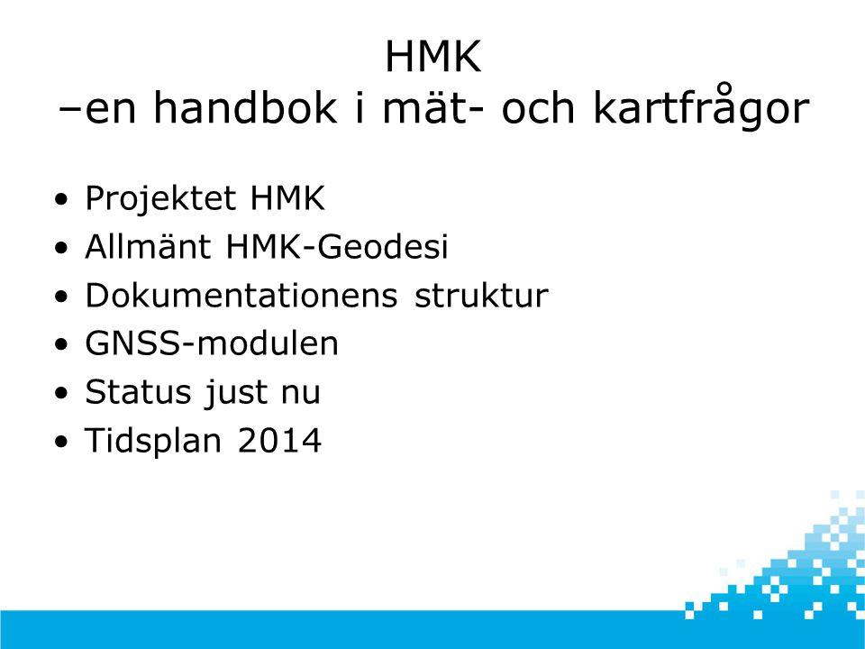 HMK –en handbok i mät- och kartfrågor