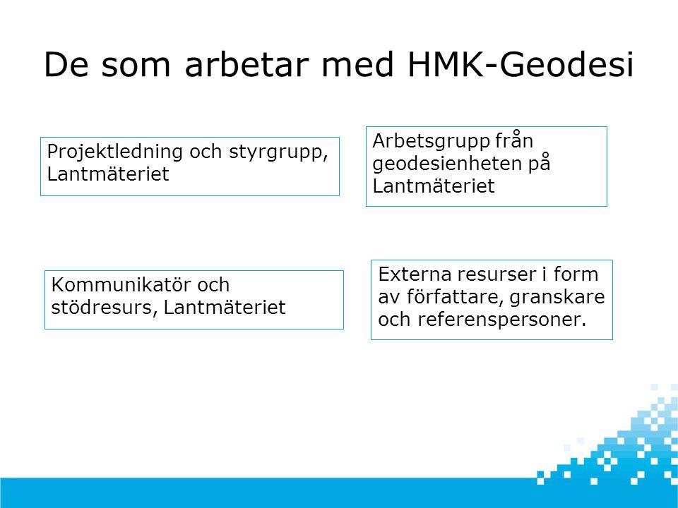 De som arbetar med HMK-Geodesi