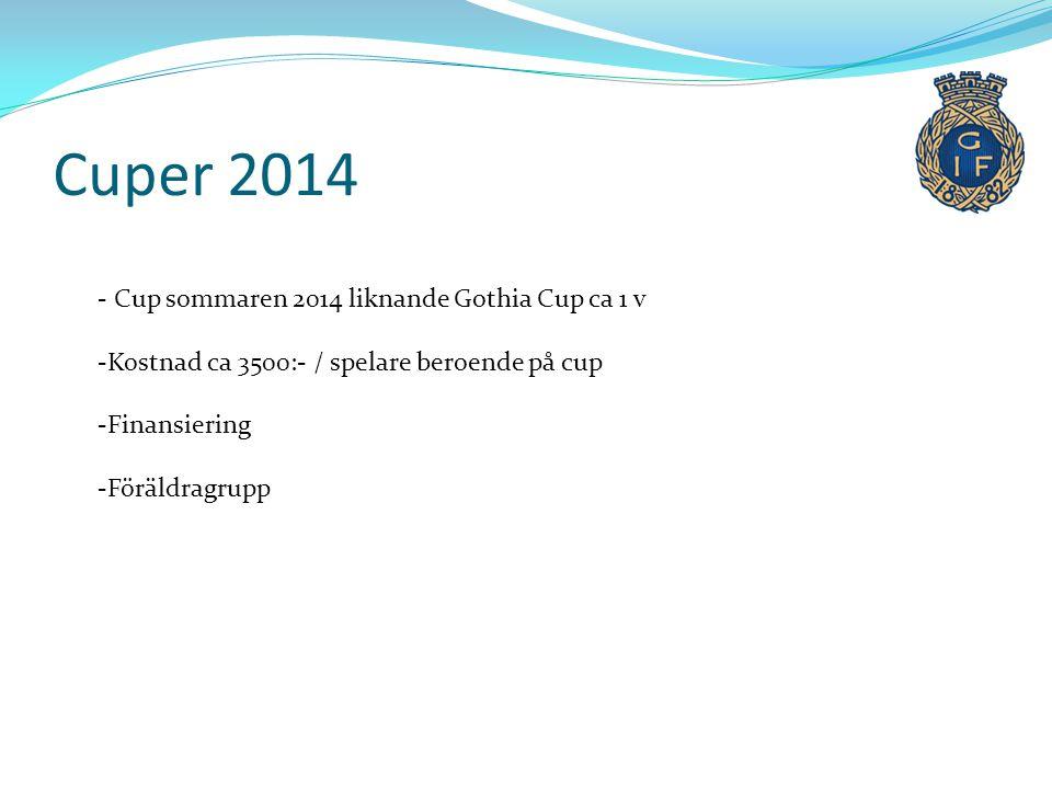 Cuper 2014 Cup sommaren 2014 liknande Gothia Cup ca 1 v