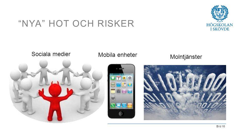 Nya hot och risker Sociala medier Mobila enheter Molntjänster