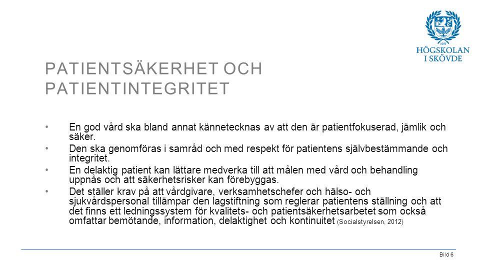 Patientsäkerhet och patientintegritet