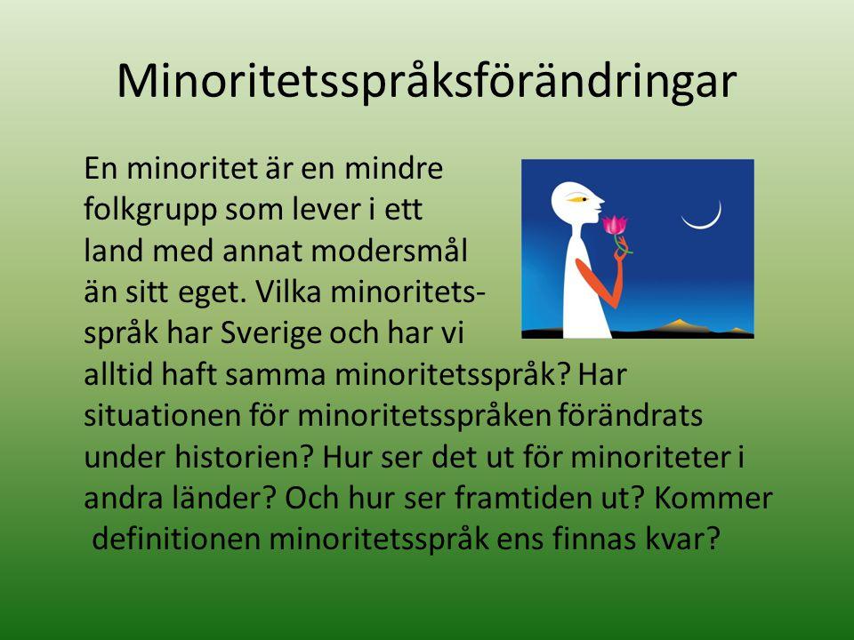 Minoritetsspråksförändringar