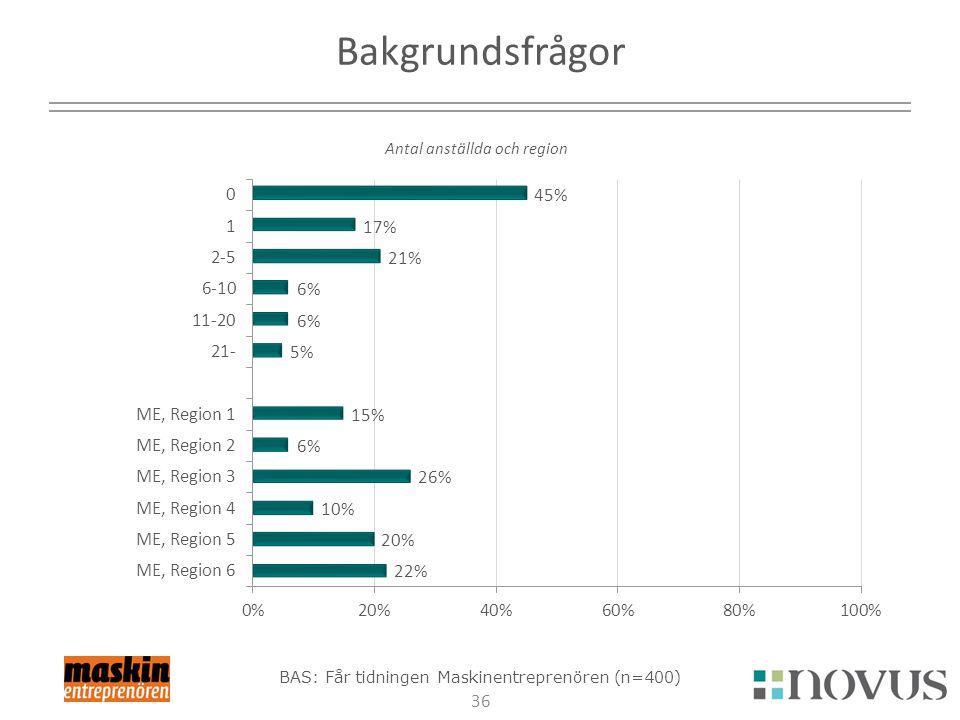 Bakgrundsfrågor Antal anställda och region 2017-04-03