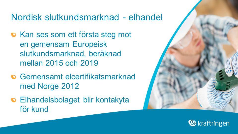 Nordisk slutkundsmarknad - elhandel