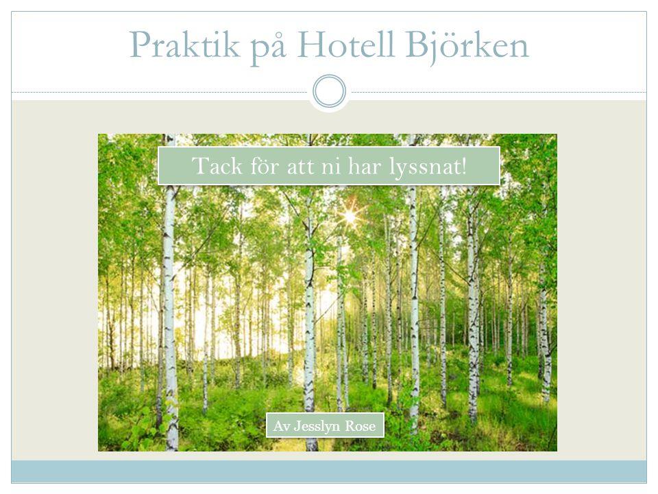 Praktik på Hotell Björken