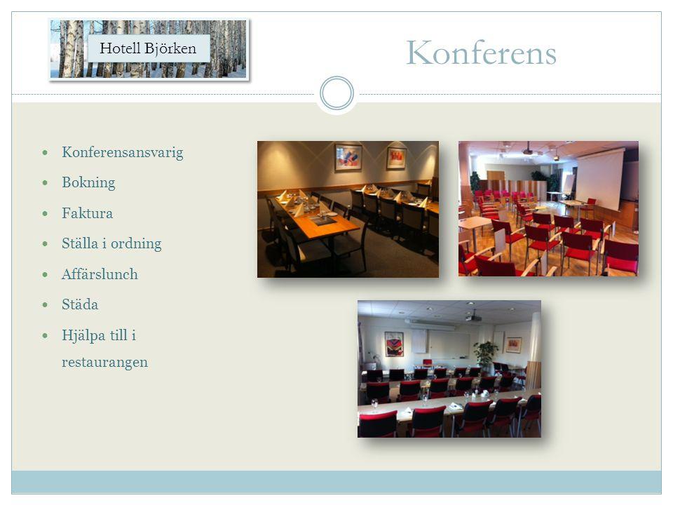 Konferens Hotell Björken Konferensansvarig Bokning Faktura