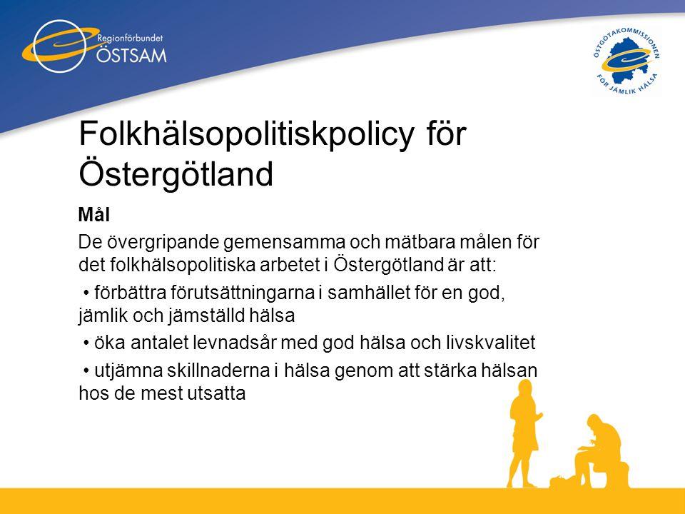 Folkhälsopolitiskpolicy för Östergötland
