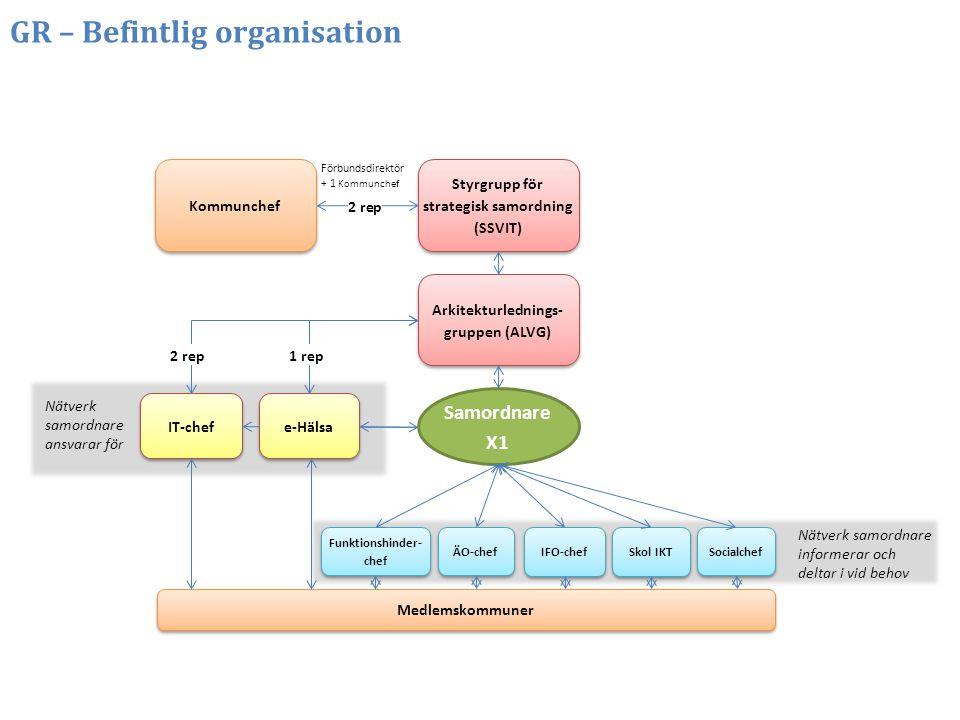GR – Befintlig organisation