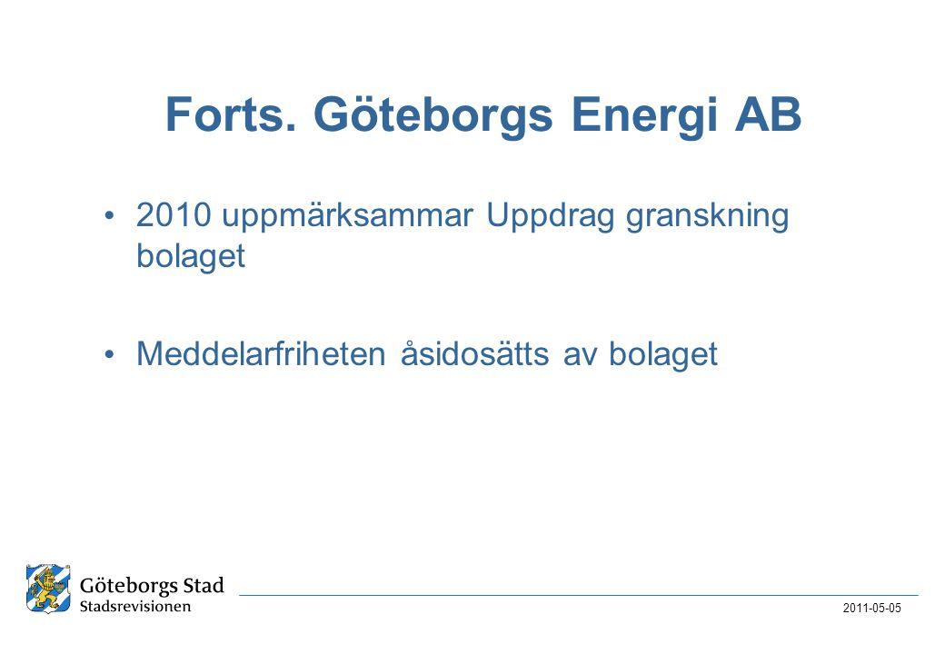 Forts. Göteborgs Energi AB