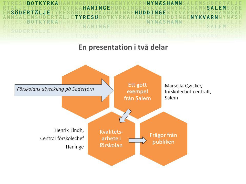 En presentation i två delar