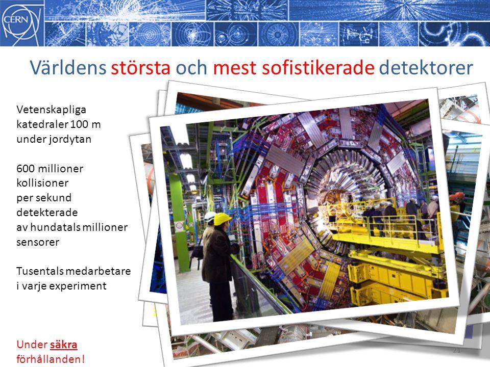 Världens största och mest sofistikerade detektorer