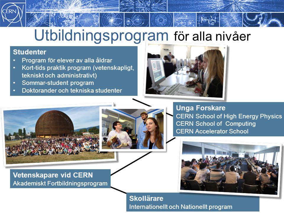 Utbildningsprogram för alla nivåer