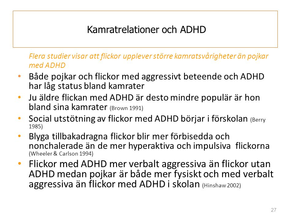 Dating flicka med adhd