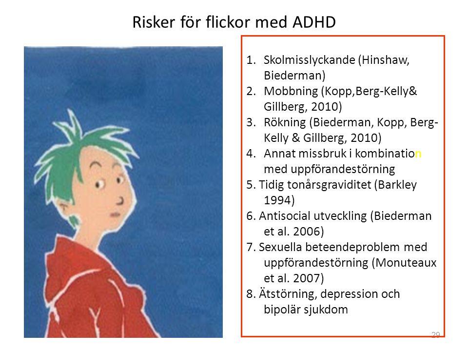 Risker för flickor med ADHD