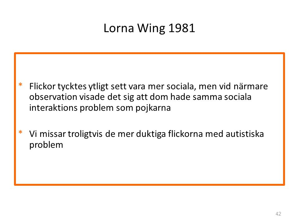 Lorna Wing 1981