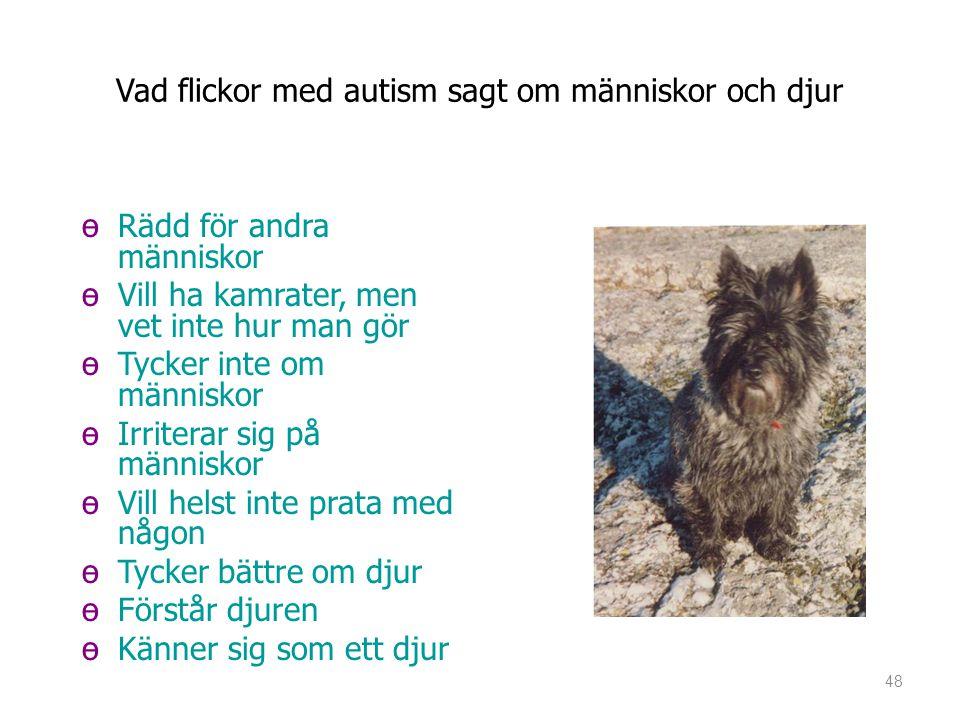 Vad flickor med autism sagt om människor och djur