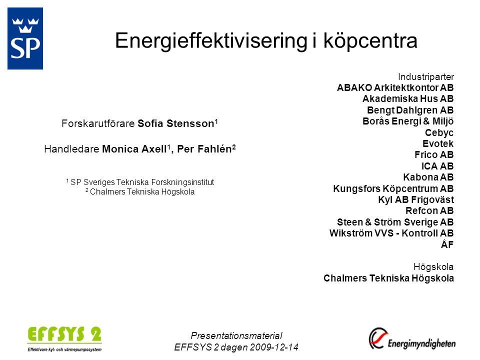 Energieffektivisering i köpcentra