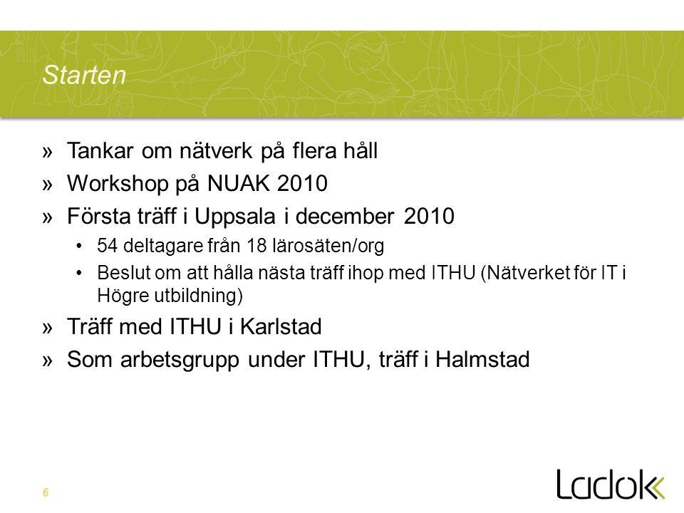 Starten Tankar om nätverk på flera håll Workshop på NUAK 2010