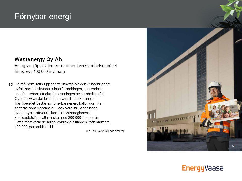 Förnybar energi Westenergy Oy Ab