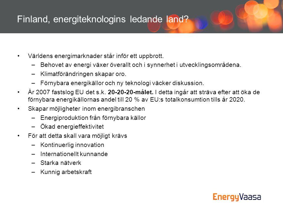 Finland, energiteknologins ledande land