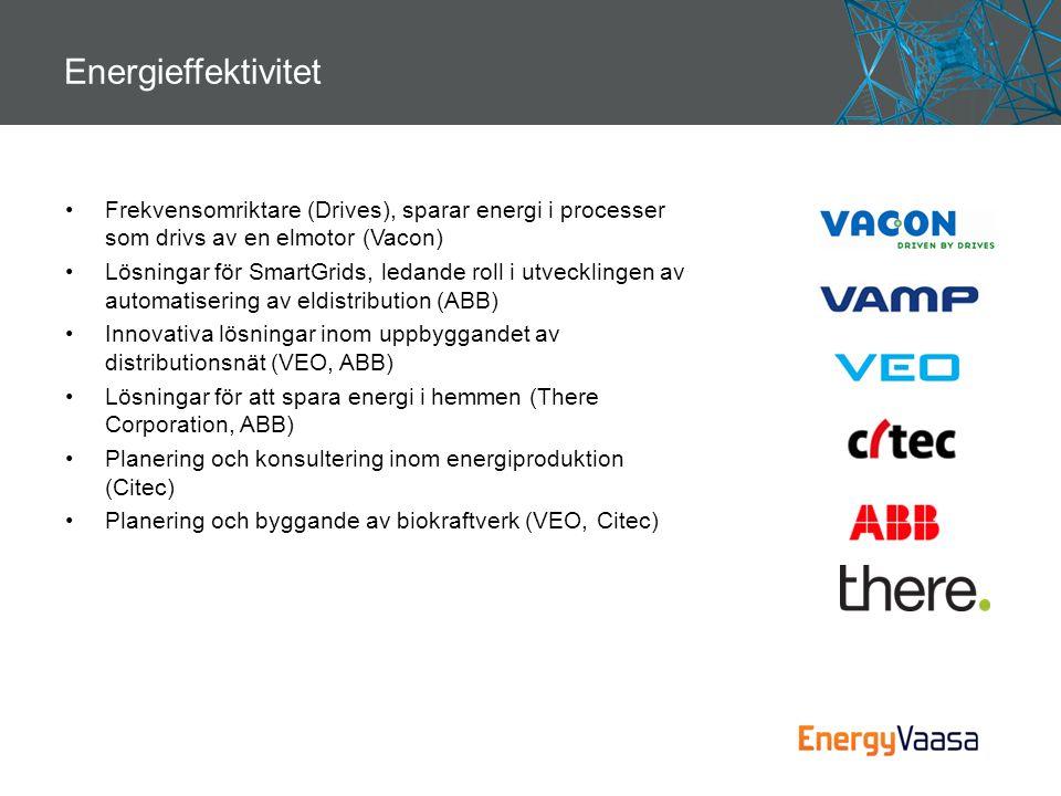 Energieffektivitet Frekvensomriktare (Drives), sparar energi i processer som drivs av en elmotor (Vacon)