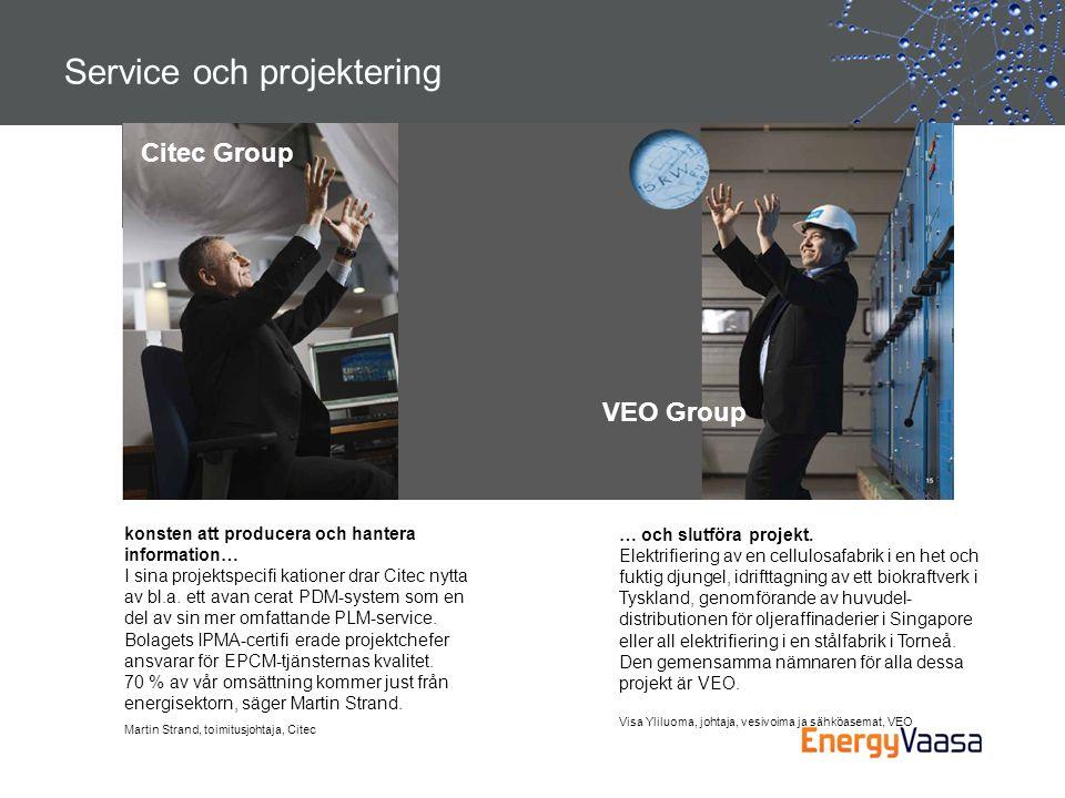 Service och projektering