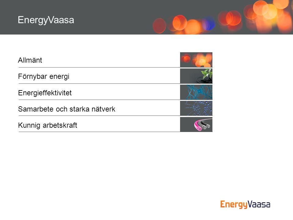 EnergyVaasa Allmänt Förnybar energi Energieffektivitet