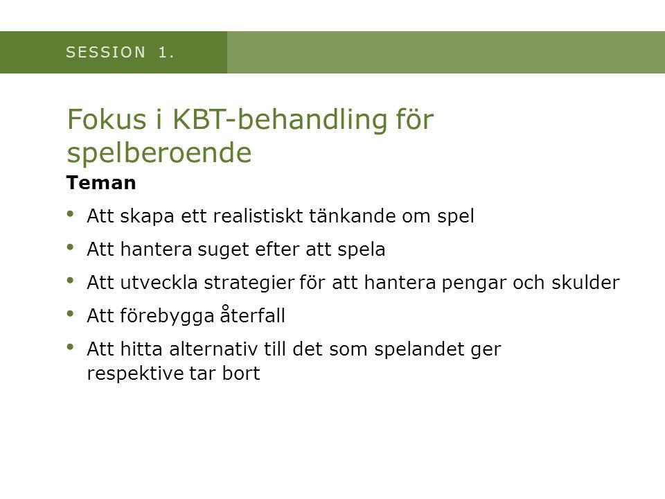Fokus i KBT-behandling för spelberoende