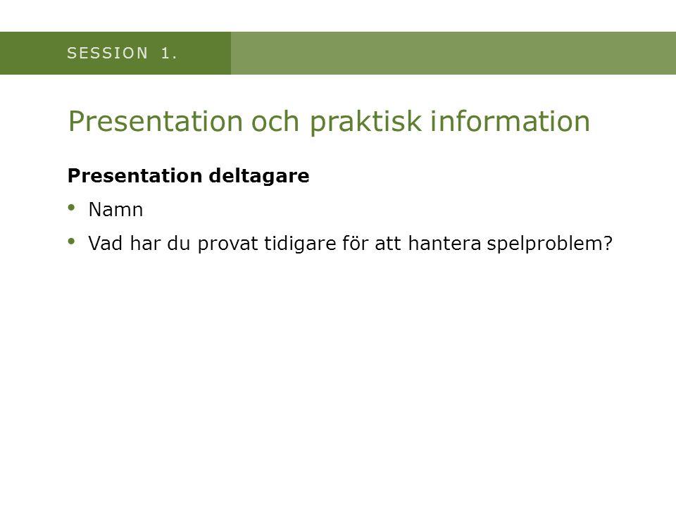Presentation och praktisk information