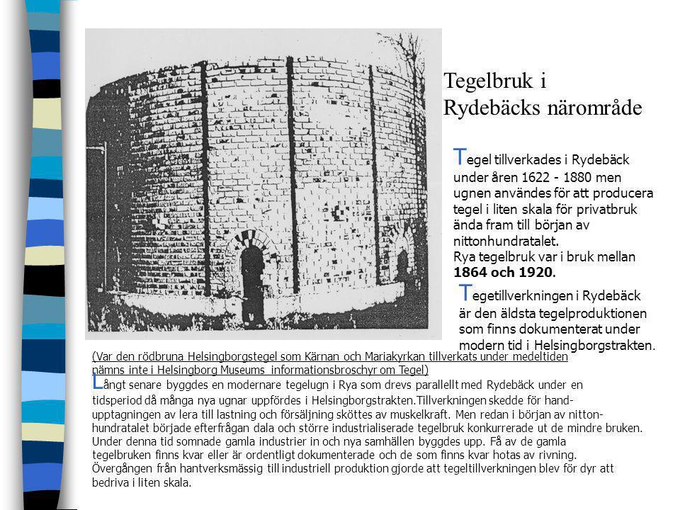 Tegel tillverkades i Rydebäck