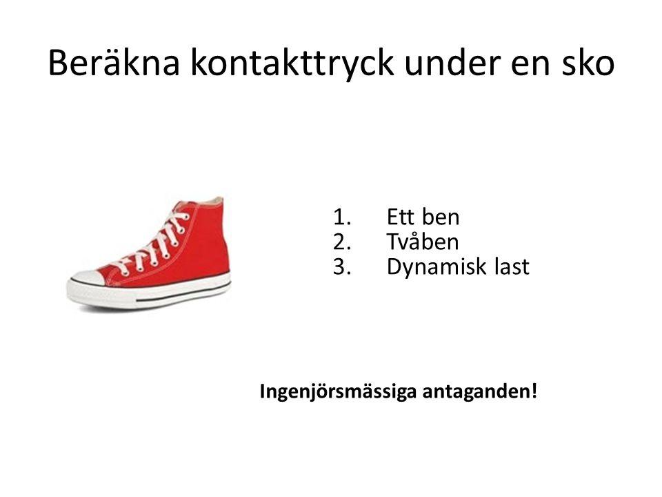 Beräkna kontakttryck under en sko