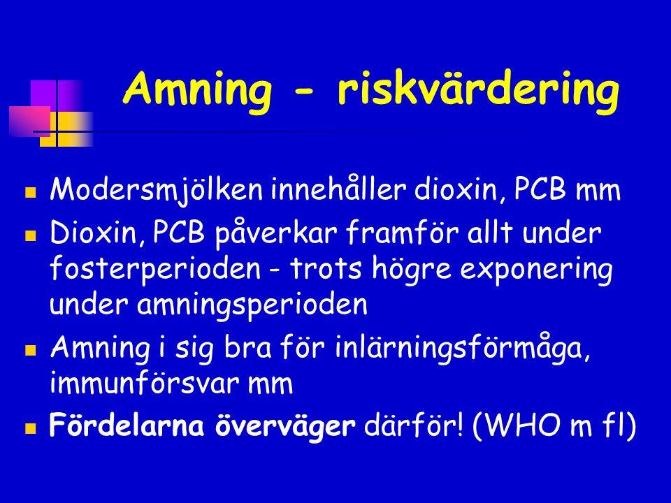 Amning - riskvärdering