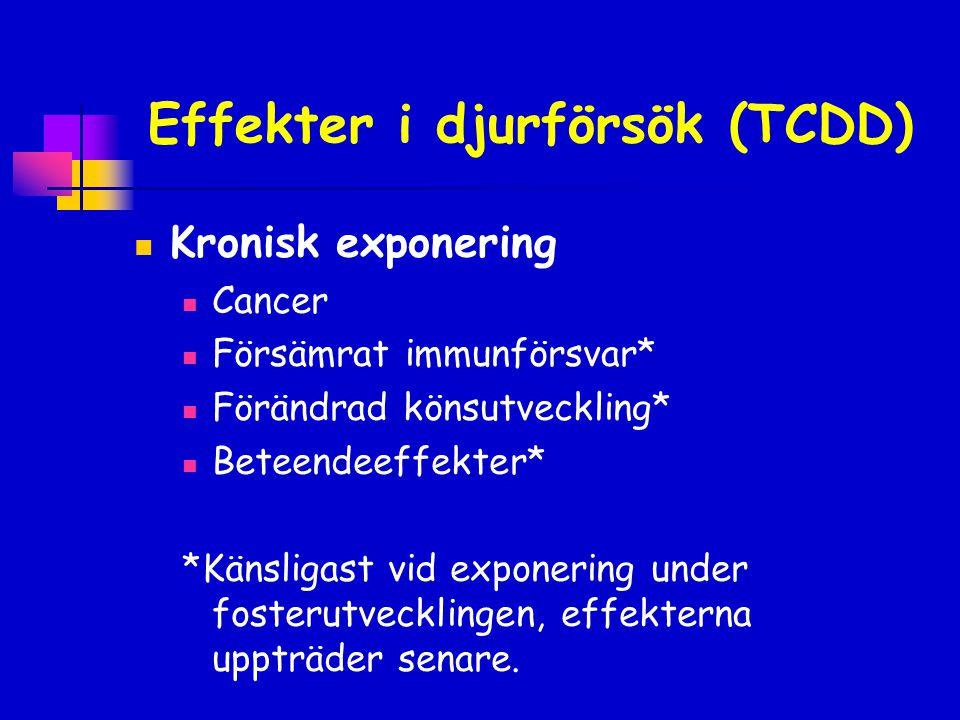 Effekter i djurförsök (TCDD)