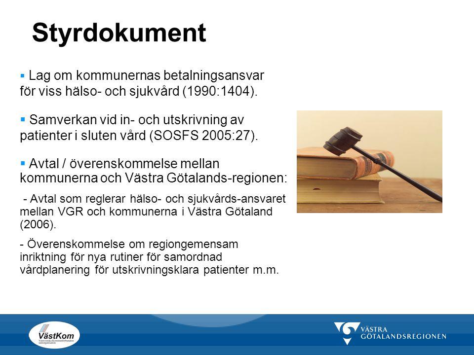 Styrdokument Lag om kommunernas betalningsansvar för viss hälso- och sjukvård (1990:1404).