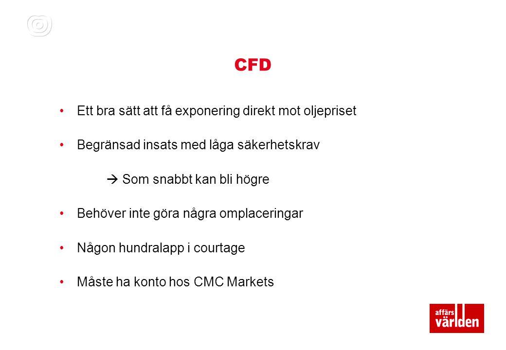 CFD Ett bra sätt att få exponering direkt mot oljepriset