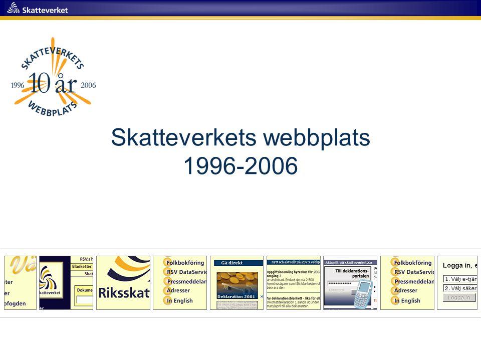 Skatteverkets webbplats 1996-2006