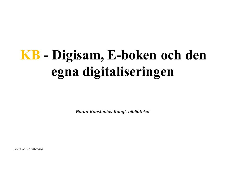 Göran Konstenius Kungl. biblioteket