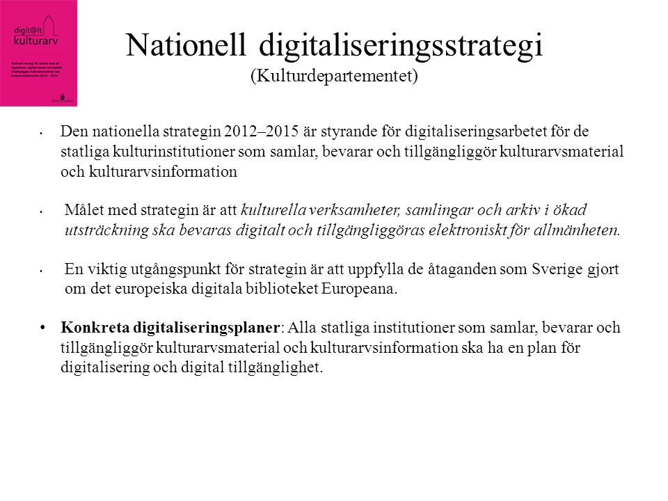 Nationell digitaliseringsstrategi (Kulturdepartementet)