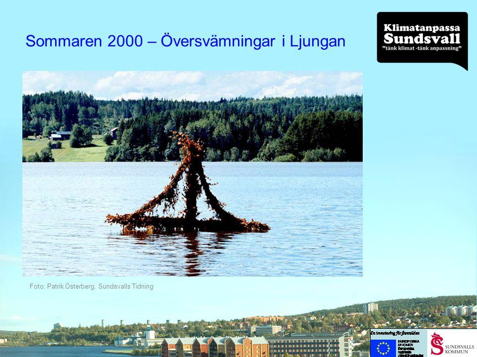 Sommaren 2000 – Översvämningar i Ljungan